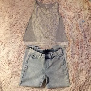 Girls NWOT capri & tank top set size L  (2/$8)❤️